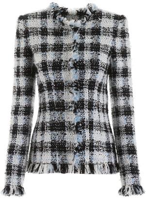 Alexander McQueen Check Tweed Blazer
