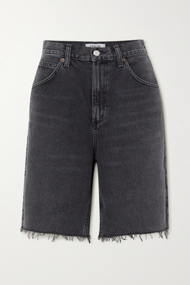 AGOLDE Pinch Distressed Denim Shorts - Black