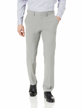 J.M. Haggar Men's Solid Gab 4-Way Stretch Slim Fit Suit Separate Pant