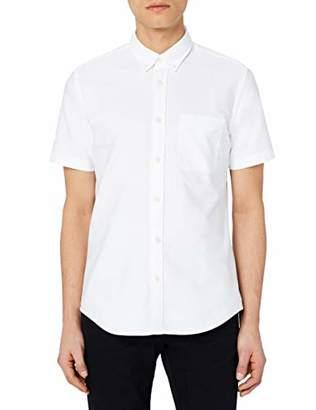 MERAKI Men's Oxford Button Up Short Sleeve Shirt,(Size: Medium)