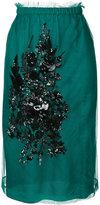 No.21 embellished midi skirt