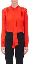 Givenchy Women's Silk Satin-Back Tieneck Blouse-ORANGE