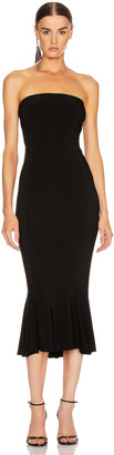Norma Kamali Strapless Fishtail Dress To Midcalf in Black | FWRD