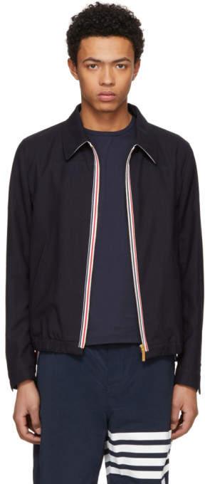 Thom Browne Navy Double Welt Pocket Golf Jacket
