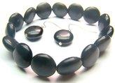 Wagga Shop BOBXSP1200X Obsidian Spere Shape 12mm Bracelet, Women Bracelet