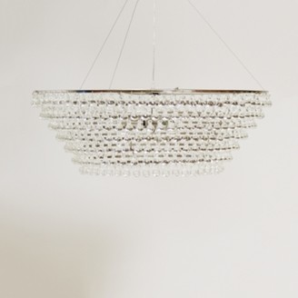 The White Company Glass Orb Chandelier Large Ceiling Light, Clear, One Size