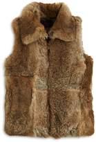 Surell Girls' Collared Fur Vest