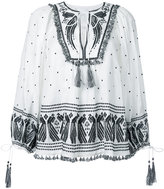 Zimmermann peacock embroidered blouse