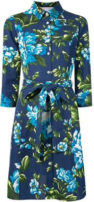 Carolina Herrera Floral Print Shirt Dress