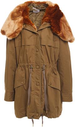 Stella McCartney Faux Fur-trimmed Cotton Parka