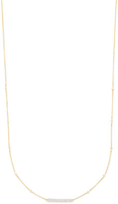 Kendra Scott Remington Pendant Necklace in 14k Gold and White Diamonds