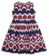 Oscar de la Renta Toddler's, Little Girl's & Girl's Ikat Cotton Gathered Skirt Party Dress