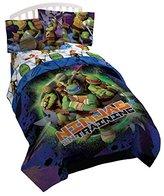 """Nickelodeon Teenage Mutant Ninja Turtles Stars 64"""" x 86"""" Twin Reversible Comforter with 20"""" x 26"""" Sham"""