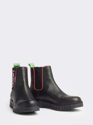 Tommy Hilfiger Neon Detail Chelsea Boots