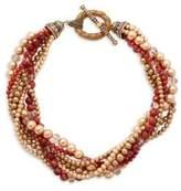 Heidi Daus Carnelian Multi-Strand Torsade Necklace