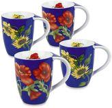 Konitz Flowers 4-pc. Assorted Coffee Mug Set