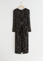 Thumbnail for your product : And other stories Midi Slit Wrap Dress