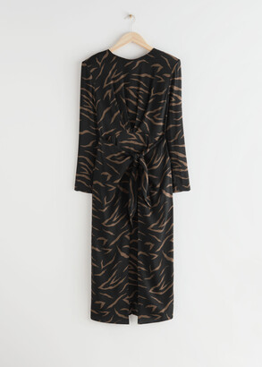 And other stories Midi Slit Wrap Dress