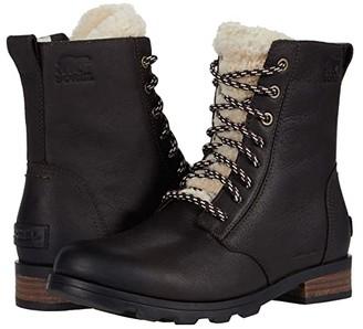 Sorel Emelie Short Lace Cozy (Blackened Brown) Women's Boots