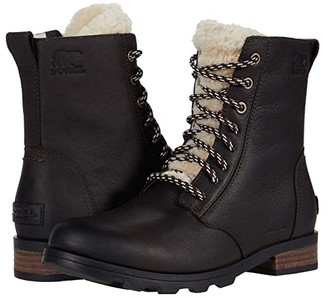 Sorel Emelietm Short Lace Cozy (Blackened Brown) Women's Boots