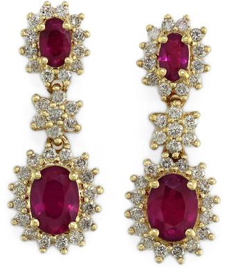 Effy Fine Jewelry 14K 3.43 Ct. Tw. Diamond & Ruby Earrings