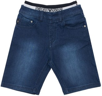 Emporio Armani STRETCH COTTON DENIM SHORTS