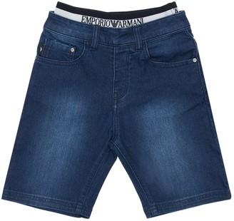 Emporio Armani Stretch Cotton Denim Shorts