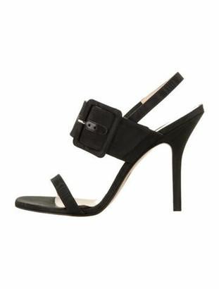 ATTICO Satin Slingback Sandals w/ Tags Black