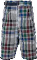 Sacai checked bermuda shorts