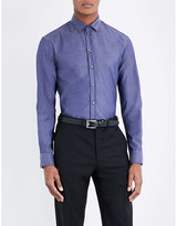 Armani Collezioni Tailored-fit Chambray Shirt