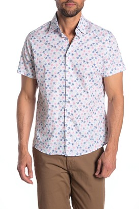 Stone Rose Short Sleeve Regular Fit Woven Shirt