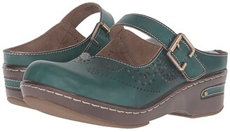 Spring Step L'Artiste by Aneria (Teal) Women's Clog/Mule Shoes