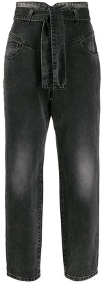 Pinko High-Waisted Straight-Leg Jeans