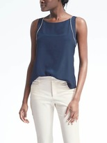 Banana Republic Easy Care Cutaway Framed Top