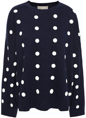 MICHAEL Michael Kors Polka-dot Cotton Sweater