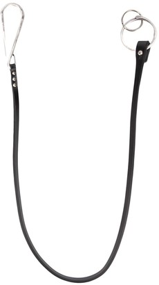 Ann Demeulemeester Leather Trim Trousers Chain