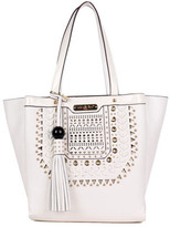 Nicole Lee Women's Anouska Braided Intricate Cut-Out Design Tote Bag