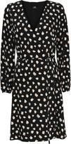 Wallis Monochrome Print Wrap Dress