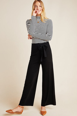 Anthropologie Linette Cropped Knit Pants By in Black Size S