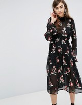 Sister Jane Midi Dress With Sequin Patches