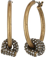 Marc Jacobs Pave Twisted Wire Earrings