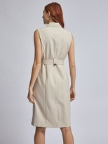 Dorothy Perkins Sleeveless Trench Dress Beige