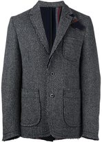 Sacai raw edge blazer - men - Nylon/Cupro/Wool - 2