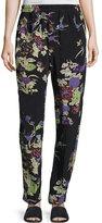 Isabel Marant Isley Floral Bouquet Printed Pajama Pants, Black