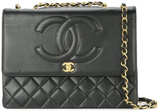 Chanel Pre Owned 1991-1994 CC Jumbo XL diamond-quilted shoulder bag