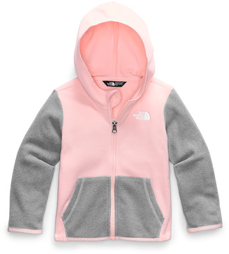The North Face Girl's Glacier Zip-Up Hooded Fleece Jacket, Size 2-4T