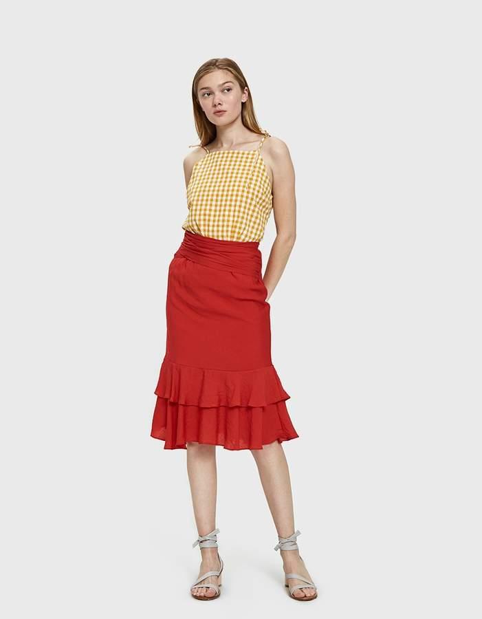 f82dbd093 Ruffle Hem Pencil Skirt - ShopStyle