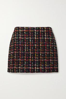 Alice + Olivia Alice Olivia - Elana Tweed Mini Skirt - Black
