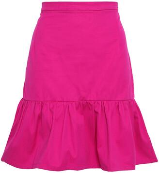Isolda Fluted Cotton-blend Twill Mini Skirt