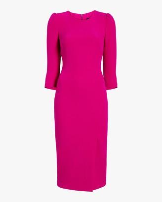 Badgley Mischka Long Sleeve Sheath Dress
